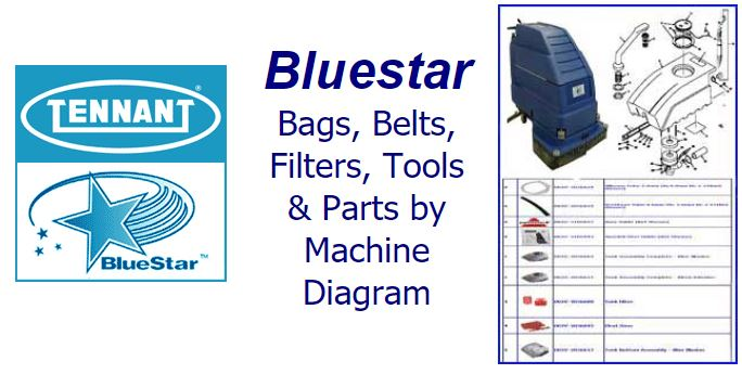 Shop Bluestar parts, belts, bags, filters and accessories by machine diagram/schematic!