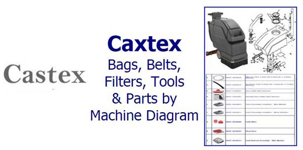 Shop Castex parts, belts, bags, filters and accessories by machine diagram/schematic!