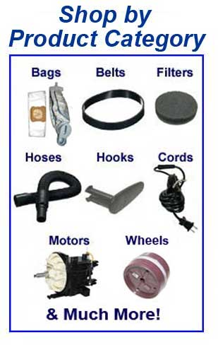 Shop castex parts, belts, bags, filters and accessories by product category!