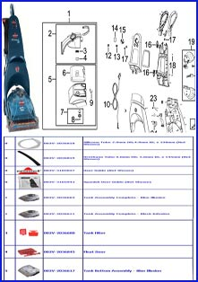 Bissell Parts by Machine Diagram