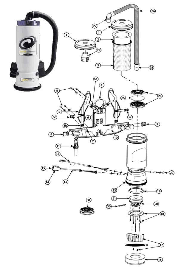 Image Result For Proteam Backpack Vacuum Parts