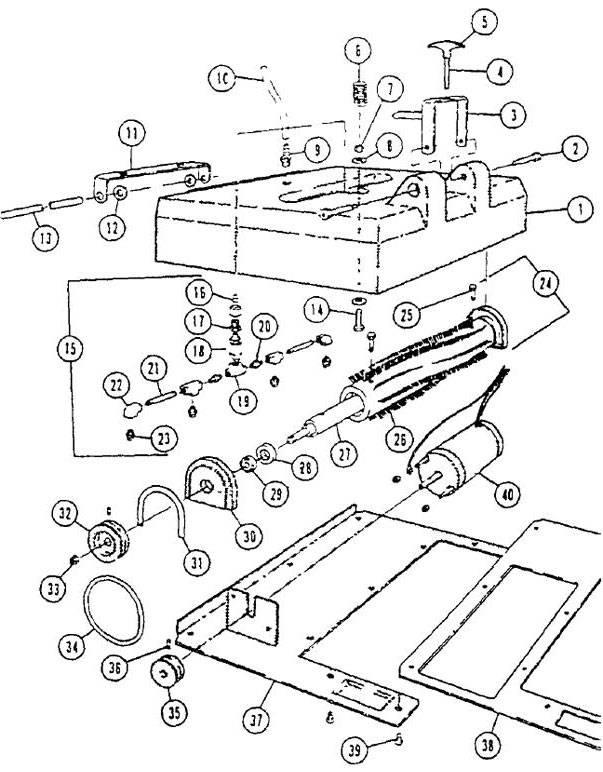 Castex Power Eagle Diverter Valve Version Power Brush Diagram B Parts