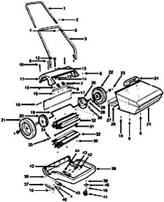 Tennant 110 Push Sweeper Assembly Parts
