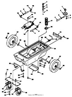 Tennant 1100 Portable Carpet Extractor Chassis Group Parts