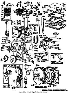 Tennant 140 Sweeper MM130 Engine Break Down Part 1 Parts