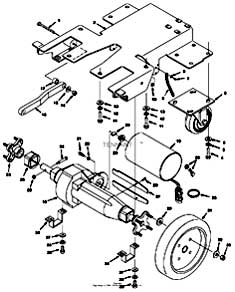 Tennant 1530 Carpet Extractor Drive Group (S/N 00000000-10492842) Parts