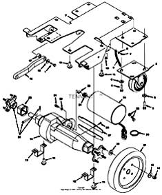 Tennant 1530 Carpet Extractor Drive Group (S/N 10492843-        ) PartsTennant 1530 Carpet Extractor Drive Group (S/N 10492843-        ) Parts