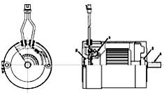 Tennant 355 Electric Sweeper MM306 Electric Motor Breakdown, 16224 PartsTennant 355 Electric Sweeper MM306 Electric Motor Breakdown, 16224 Parts