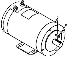 Tennant 355 Electric Sweeper MM306 Electric Motor Breakdown, 60193 Parts