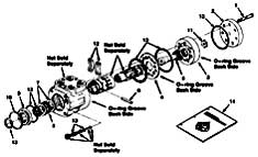 Tennant 355 Electric Sweeper MM306 Hydraulic Steering Valve Breakdown, 74173 PartsTennant 355 Electric Sweeper MM306 Hydraulic Steering Valve Breakdown, 74173 Parts