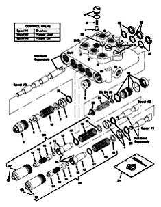 Tennant 355 Sweeper MM300 Hydraulic Valve Breakdown, 48751 Parts