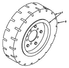 Tennant 355 Sweeper MM300 Soft Ride Non-Marking Tire And Wheel Assembly Parts
