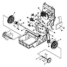 Tennant 3620 Automatic Sweeper Drive Group Parts