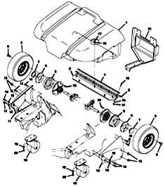 Tennant 3640 Sweeper (Electric) 330560 Wide Track Wheels Kit Parts