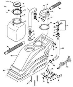 Castex SCX-1016 - 607440 Recovery Tank Group PartsCastex SCX-1016 - 607440 Recovery Tank Group Parts