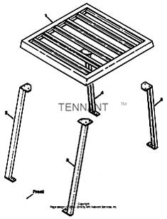 Tennant 1550 Rider Scrubber MM283 Overhead Guard Kit Parts