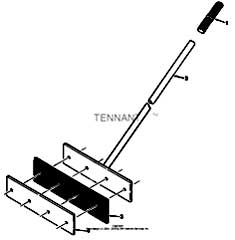 Tennant 1550 Rider Scrubber MM283 Sludge Removal Tool Assembly PartsTennant 1550 Rider Scrubber MM283 Sludge Removal Tool Assembly Parts
