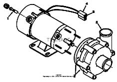 Tennant 1550 Rider Scrubber MM283 Solution Pump Breakdown, 33327 Parts