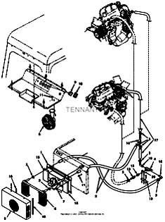 Tennant 385 Sweeper MM304 Cab Heater Kit Parts