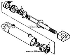 Tennant 385 Sweeper MM304 Hydraulic Cylinder Breakdown, 74419 PartsTennant 385 Sweeper MM304 Hydraulic Cylinder Breakdown, 74419 Parts