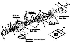 Tennant 385 Sweeper MM304 Hydraulic Steering Valve Breakdown, 74172 PartsTennant 385 Sweeper MM304 Hydraulic Steering Valve Breakdown, 74172 Parts
