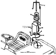 Tennant 385 Sweeper MM304 Revolving Light Kit, LRC Parts