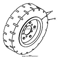 Tennant 385 Sweeper MM304 Soft Ride Non-Marking Tire And Wheel Assembly Parts