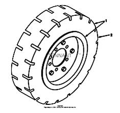Tennant 385 Sweeper MM304 Soft Ride Tire And Wheel Assembly PartsTennant 385 Sweeper MM304 Soft Ride Tire And Wheel Assembly Parts