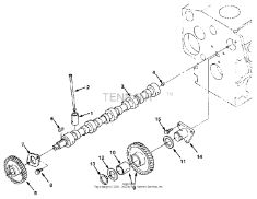 Tennant 385DLH Sweeper MM321 Camshaft Group Parts