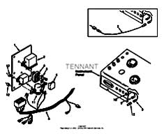 Tennant 550 G/LP and D Rider Scrubber S/N 003370-006114-MM148 Glow Plug Control Group, Diesel Parts