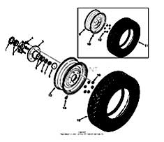 Tennant 550 G/LP and D Rider Scrubber S/N 003370-006114-MM148 Rear Wheel Group PartsTennant 550 G/LP and D Rider Scrubber S/N 003370-006114-MM148 Rear Wheel Group Parts