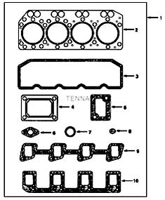 Tennant 550D Rider Scrubber S/N 006115 and Up-330670 Top Joints And Gaskets Group PartsTennant 550D Rider Scrubber S/N 006115 and Up-330670 Top Joints And Gaskets Group Parts