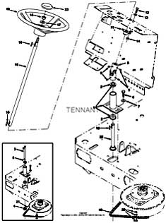 Tennant 7100 Scrubber 330690 Steering Group Parts