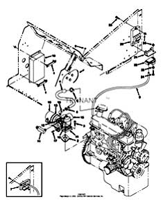 Tennant 7400 (FORD) Rider Scrubber (000000-006999) MM425 Carburetor Group, LPG Parts