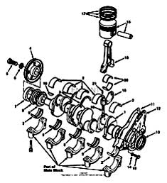 Tennant 7400 (FORD) Rider Scrubber (000000-006999) MM425 Crankshaft And Piston Group - Engine Breakdown PartsTennant 7400 (FORD) Rider Scrubber (000000-006999) MM425 Crankshaft And Piston Group - Engine Breakdown Parts