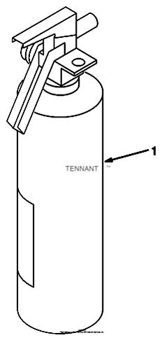 Tennant 7400 (FORD) Rider Scrubber (000000-006999) MM425 Fire Extinguisher Kit Parts
