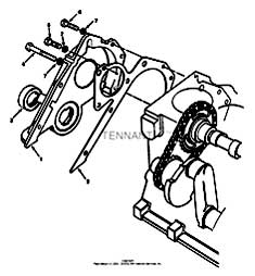 Tennant 7400 (FORD) Rider Scrubber (000000-006999) MM425 Front Cover Assembly Group - Engine Breakdown Parts