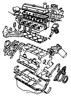 Tennant 7400 (FORD) Rider Scrubber (000000-006999) MM425 Gaskets Group - Engine Breakdown PartsTennant 7400 (FORD) Rider Scrubber (000000-006999) MM425 Gaskets Group - Engine Breakdown Parts