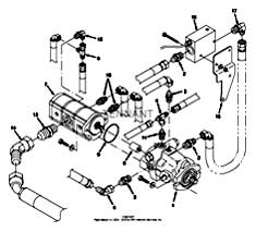 Tennant 7400 (FORD) Rider Scrubber (000000-006999) MM425 Hydraulic Pumps Group Parts