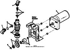 Tennant 7400 (FORD) Rider Scrubber (000000-006999) MM425 Metering Solution Pump Breakdown, 73260 Parts