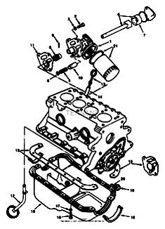 Tennant 7400 (FORD) Rider Scrubber (000000-006999) MM425 Oil Pump And Oil Pan Group - Engine Breakdown Parts