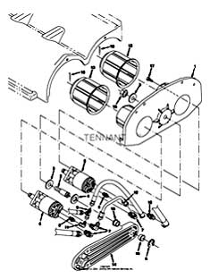 Tennant 7400 (FORD) Rider Scrubber (000000-006999) MM425 Scrub Brush Drive Motor Group Parts