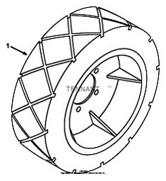 Tennant 7400 (FORD) Rider Scrubber (000000-006999) MM425 Solid High Traction Tire Group Parts