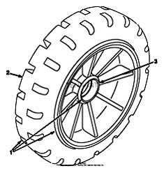 Tennant 7400 (FORD) Rider Scrubber (000000-006999) MM425 Solid Non Marking Tire And Wheel Assembly PartsTennant 7400 (FORD) Rider Scrubber (000000-006999) MM425 Solid Non Marking Tire And Wheel Assembly Parts