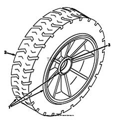 Tennant 7400 (FORD) Rider Scrubber (000000-006999) MM425 Solid Non Marking Turf Tire And Wheel Assembly Parts
