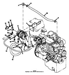 Tennant 7400 (FORD) Rider Scrubber (000000-006999) MM425 Vaporizer Group, LPG Parts