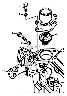 Tennant 7400 (FORD) Rider Scrubber (000000-006999) MM425 Water Pump Group - Engine Breakdown PartsTennant 7400 (FORD) Rider Scrubber (000000-006999) MM425 Water Pump Group - Engine Breakdown Parts