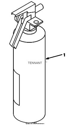 Tennant 7400 (GM) Rider Scrubber (007000-Present) 330970 Fire Extinguisher Kit Parts