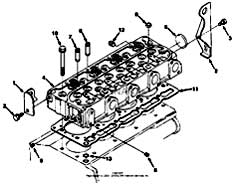 Tennant 7400D Rider Scrubber MM426 Cylinder Head Group Parts