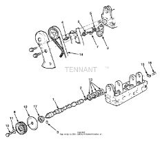 Tennant 8400 Sweeper/Scrubber MM311 Camshaft, Sprocket Group PartsTennant 8400 Sweeper/Scrubber MM311 Camshaft, Sprocket Group Parts